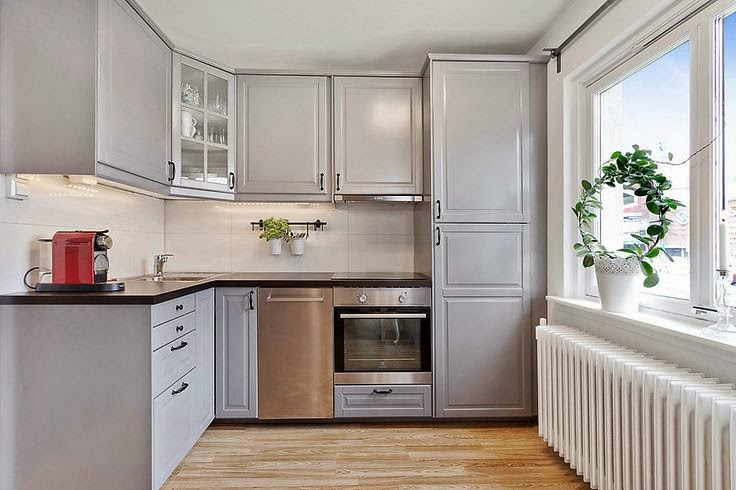 inspiracje szara kuchnia smykwkuchni. Black Bedroom Furniture Sets. Home Design Ideas