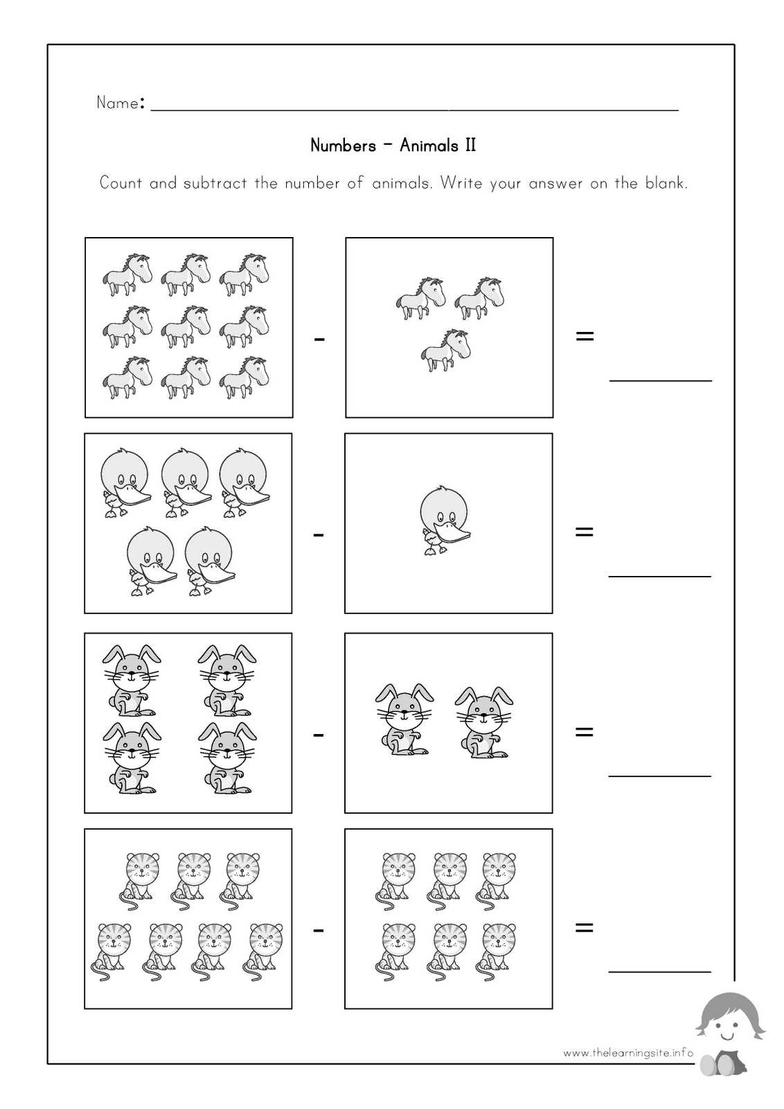 Animal Worksheet New 59 Animal Number Worksheets