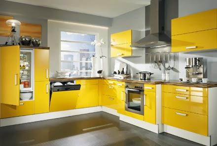 cocina color amarillo gris