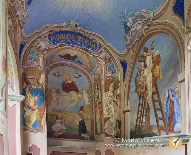 La cappella del Vanoni poco dopo Moghegno
