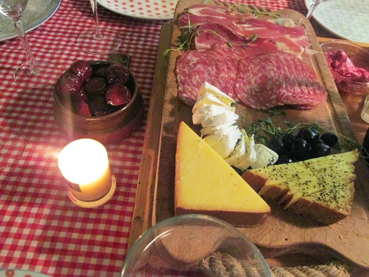 Cured meats and cheese platter - Tapas Feast
