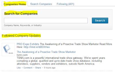 follow companies on LinkedIn, LinkedIn follow companies, LinkedIn company page home, LinkedIn followed company updates,