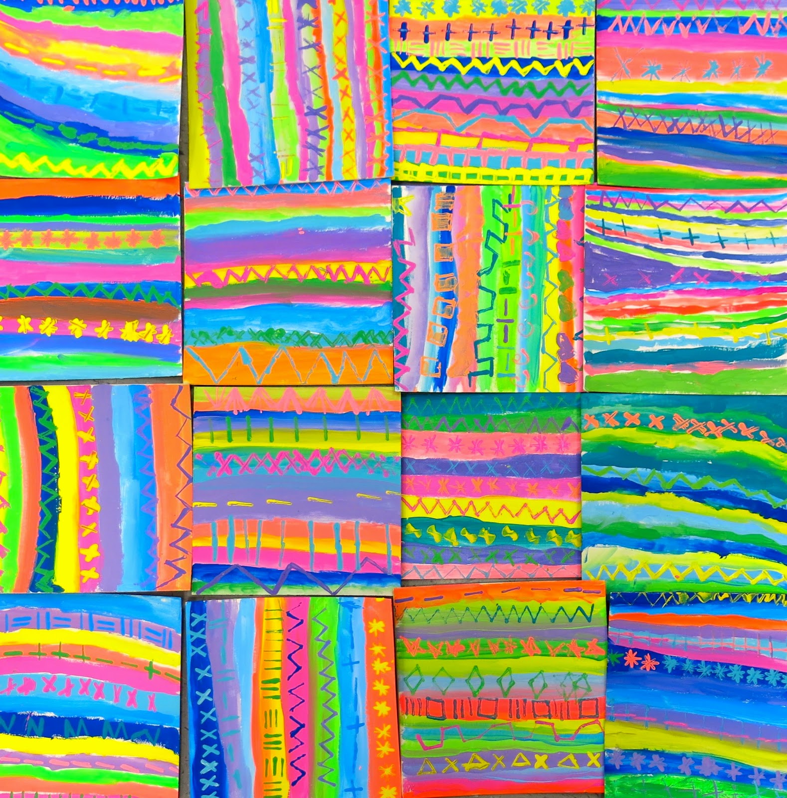Cassie Stephens In The Art Room A Scrap Yarn Relief By