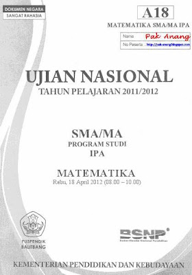 Berbagi Dan Belajar Pembahasan Soal Un Matematika Sma Program Ipa 2012 Trik Superkilat Paket A18