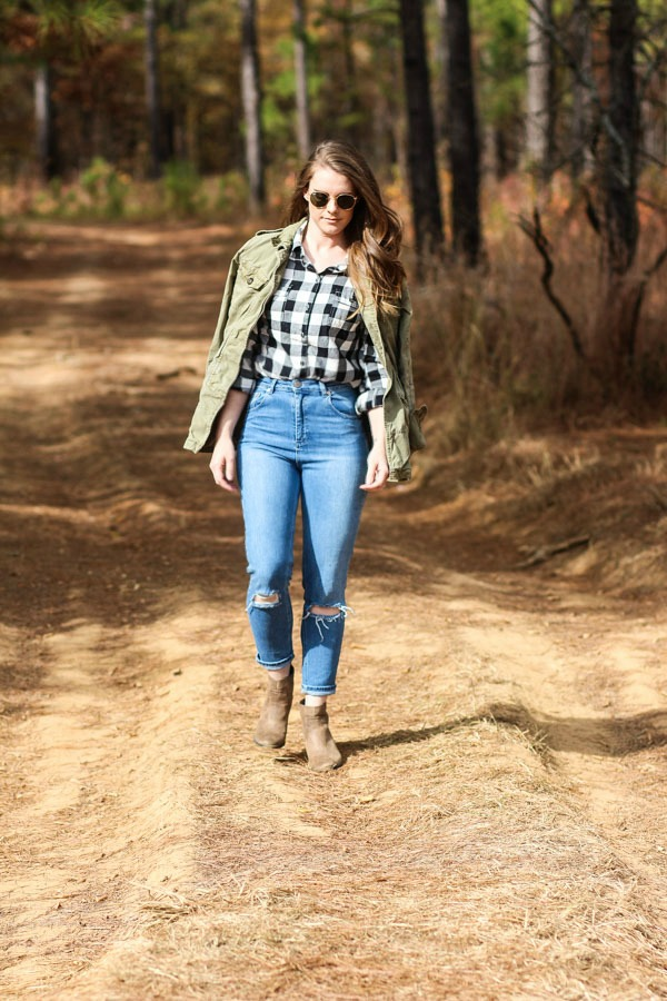 Styling high waisted jeans
