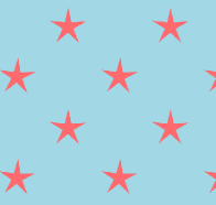 blue red star paper