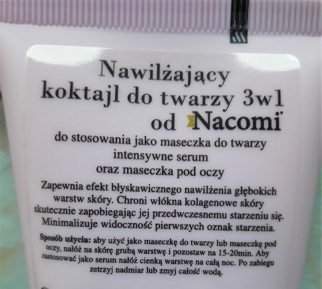 Nacomi aqua hydra skin nawilżający koktajl do twarzy 3 w 1