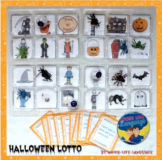 Halloween Bingo Toss from Looks-Like-Language