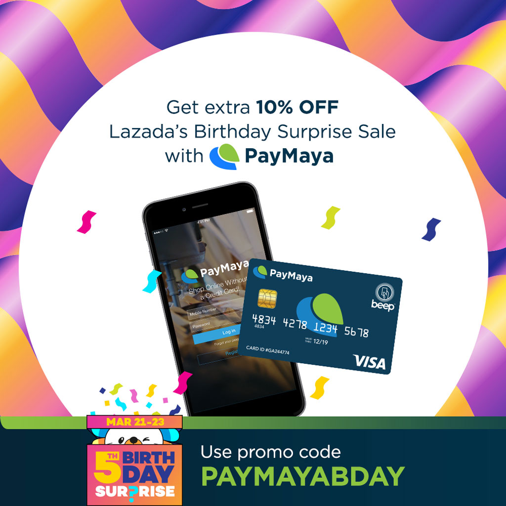 Lazada 5th Birthday Paymaya integration