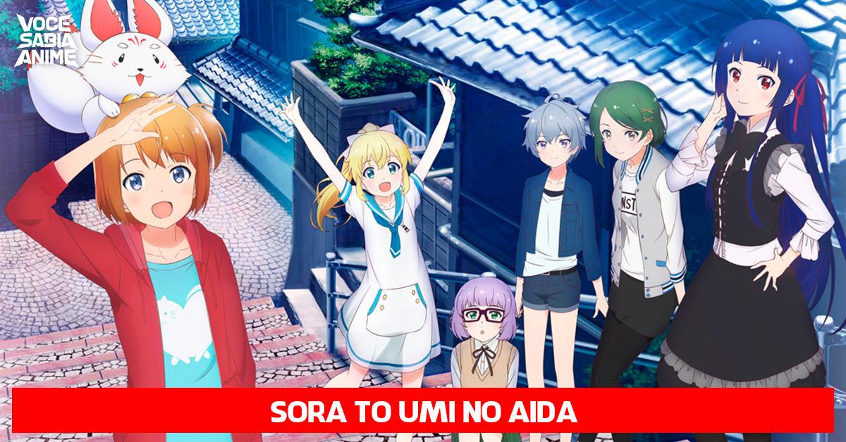 Sora to Umi no Aida - Anime sobre Garotas Caçando Peixes no Espaço