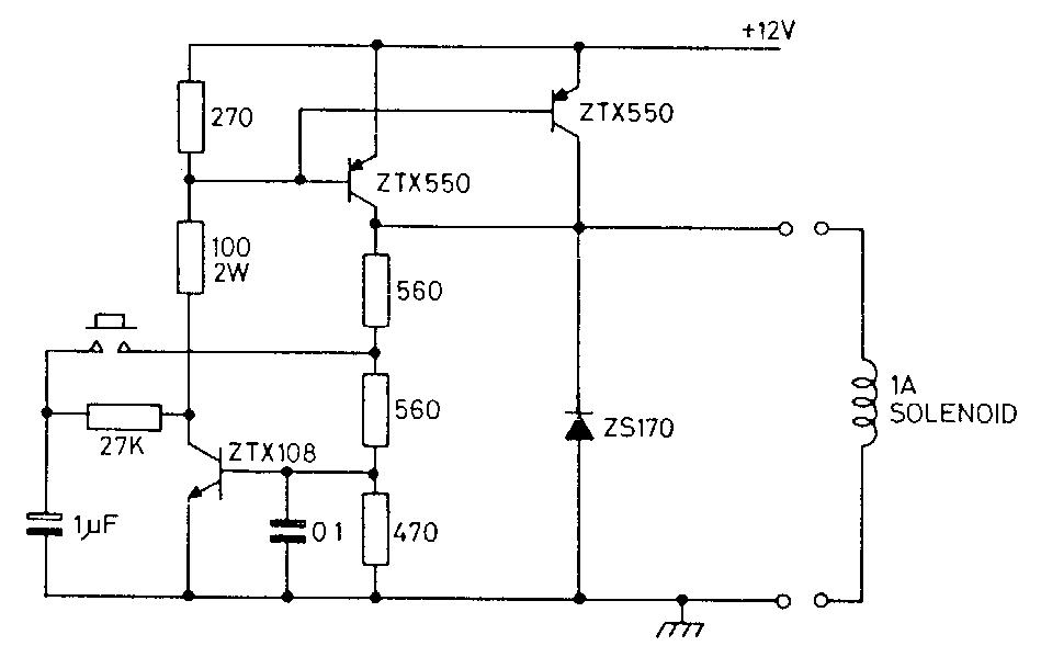 12v Latch Circuit Diagram