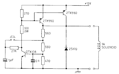 12V Latch Circuit Diagram