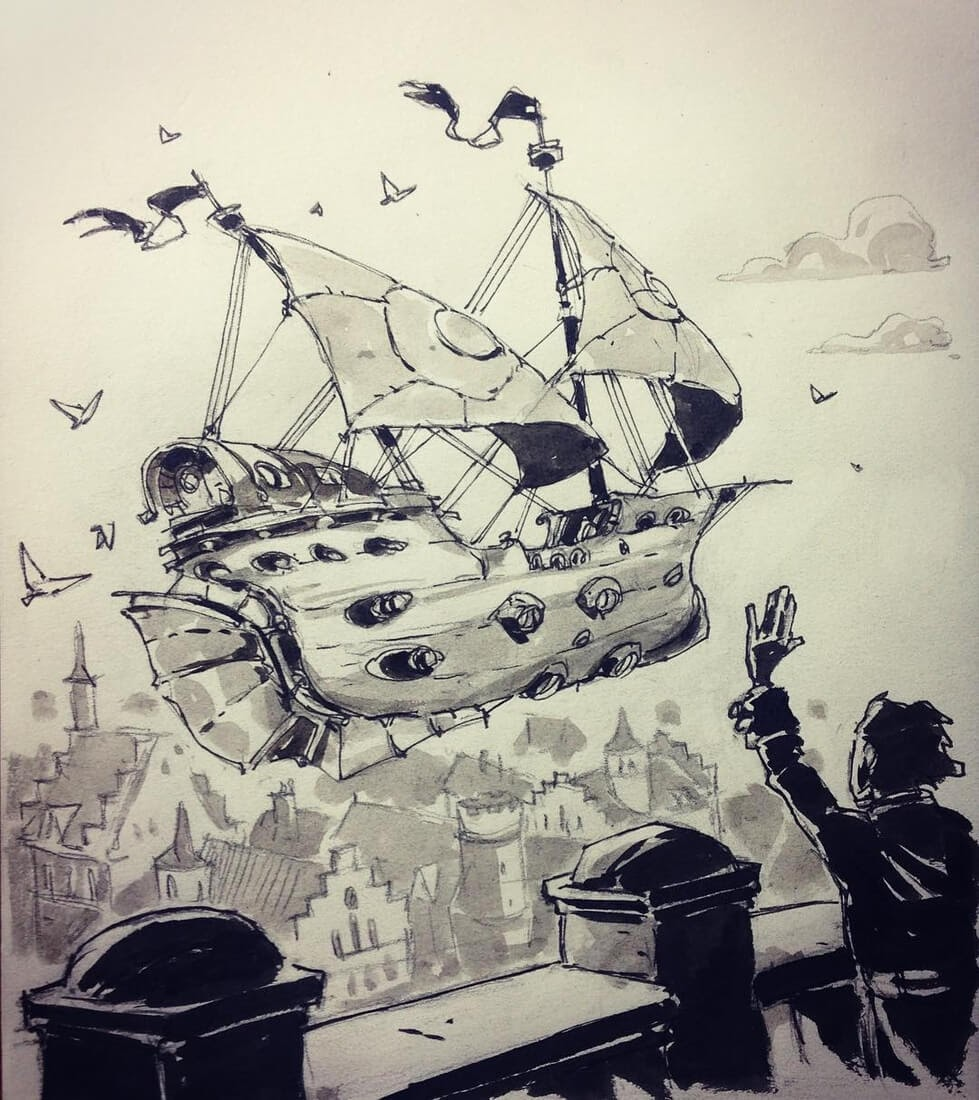 14-Bon-Voyage-Ullikummi-Fantasy-Lands-in-Ink-Drawings-www-designstack-co