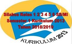 Silabus Kelas 1 2 3 4 5 6 SD/MI Semester 1 Kurikulum 2013 Tahun 2018/2019 - Guru Krebet 3