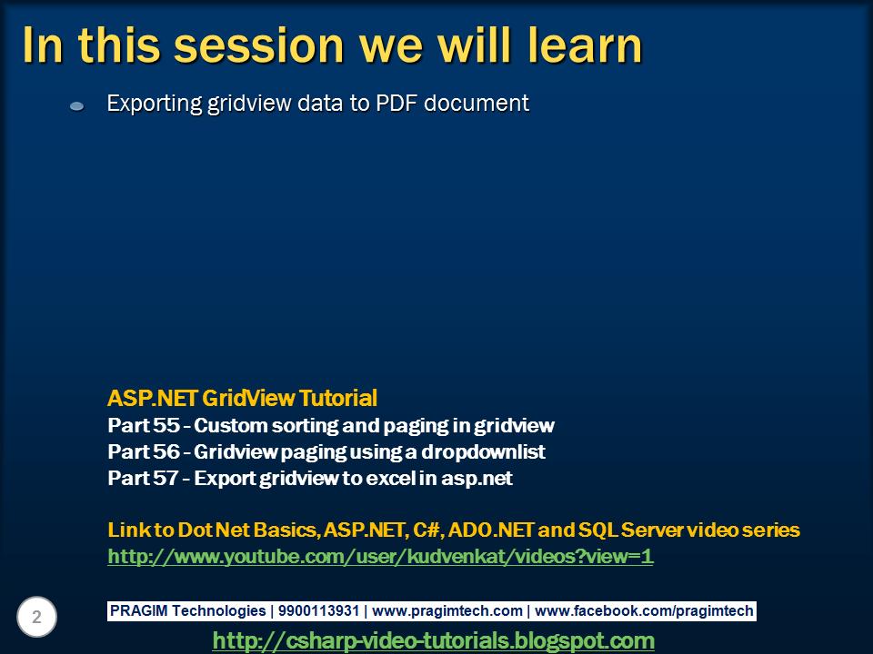 Learn Asp.net Pdf