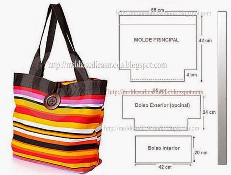 69be23c26c3 Aqui te pongo algunas ideas que te pueden inspirar a hacer tu bolso a tu  gusto y medida.