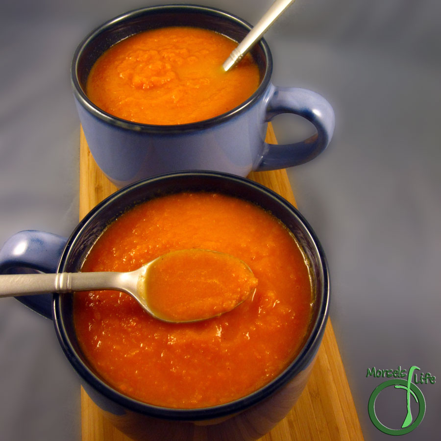 Morsels of Life - Vanilla Carrot Soup - A sweet vanilla carrot soup so tasty you'll think it's dessert (with no added sugar). Serve hot or cold.
