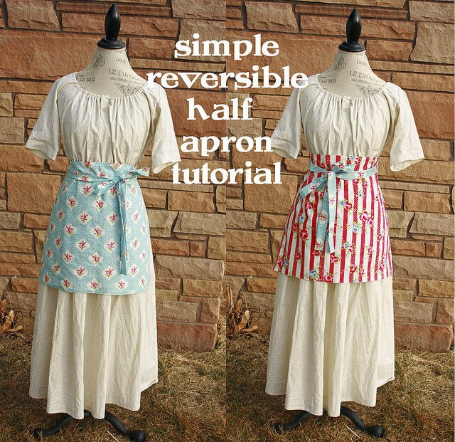 Cranial Hiccups ~ Simple Reversible Half Apron