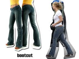 fotos e modelos de calça jeans boot cut