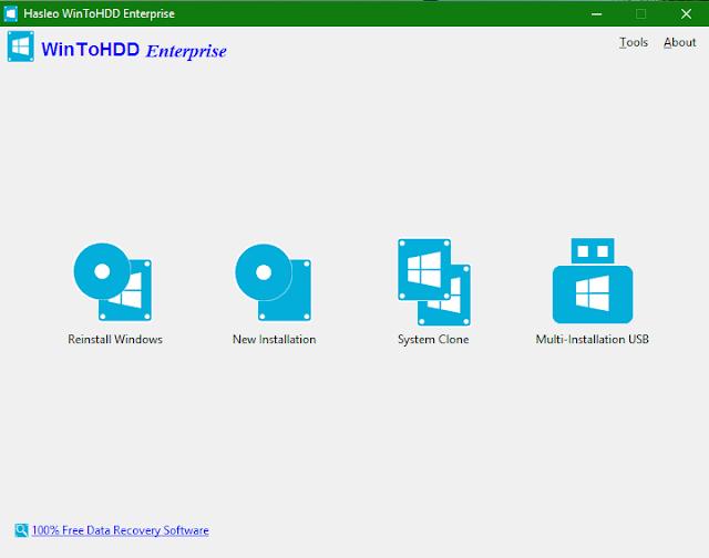 WinToHDD Enterprise 2.8 - Cài đặt Windows không cần USB