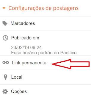 Como personalizar um link de post