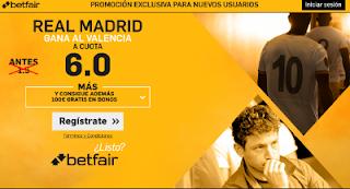 betfair supercuota 6 Real Madrid gana Valencia Liga 22 febrero
