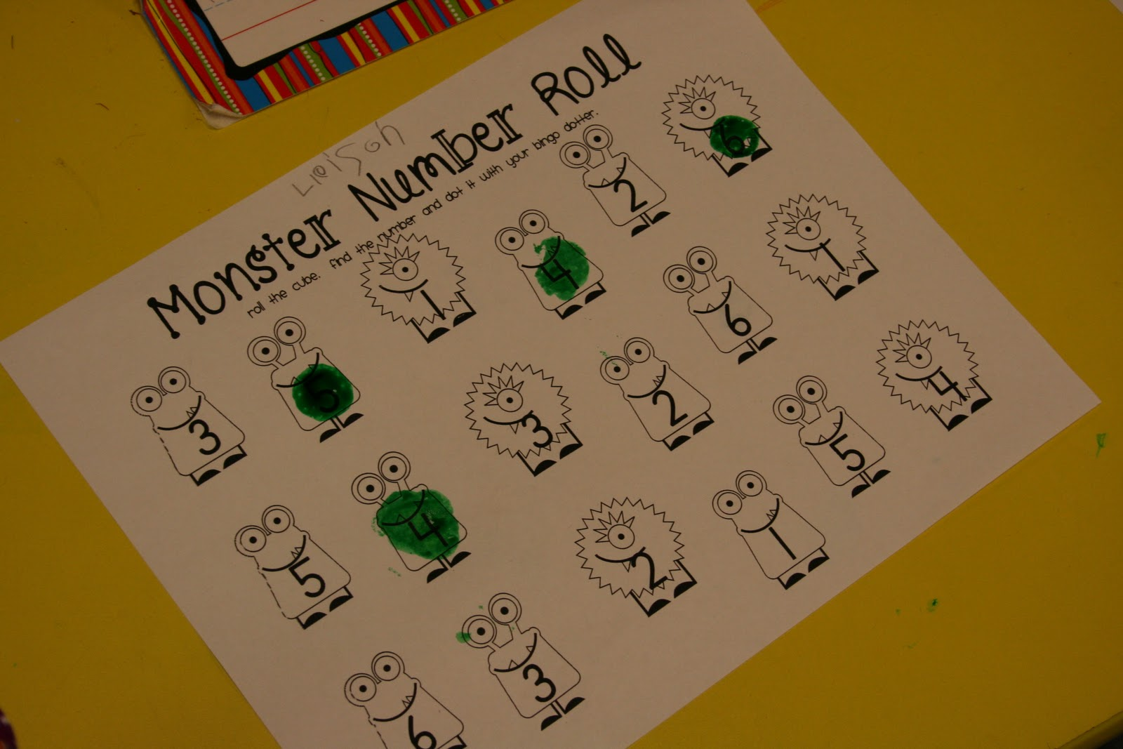 Mrs Lee S Kindergarten Monster Centers And Monster Fun