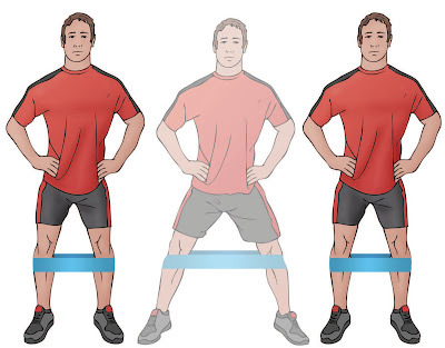 Side Stepping w/ Band Around Knees