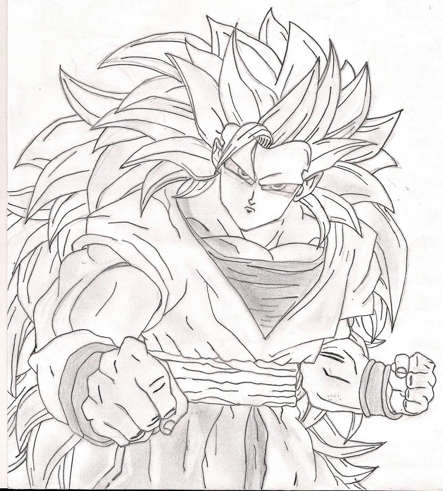 Inspirador Desenhos Para Colorir Do Dragon Ball Z Goku Ssj4
