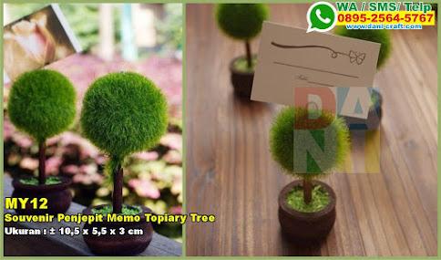 Souvenir Penjepit Memo Topiary Tree