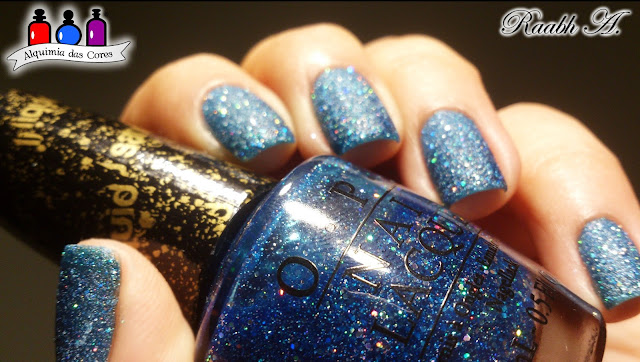 Azul, Blue, Liquid Sand, OPI Get Your Number