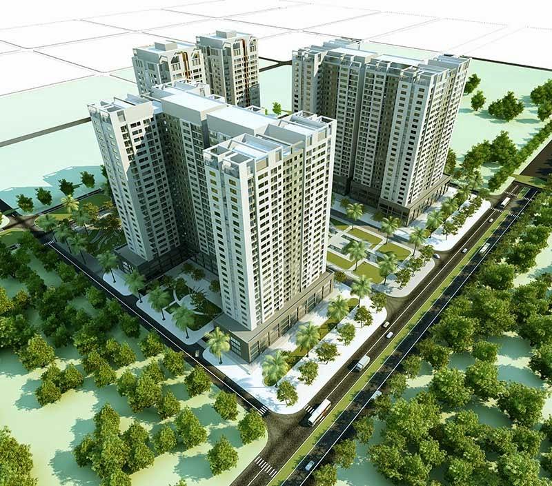 Phối cảnh dự án chung cư Tân Tây Đô