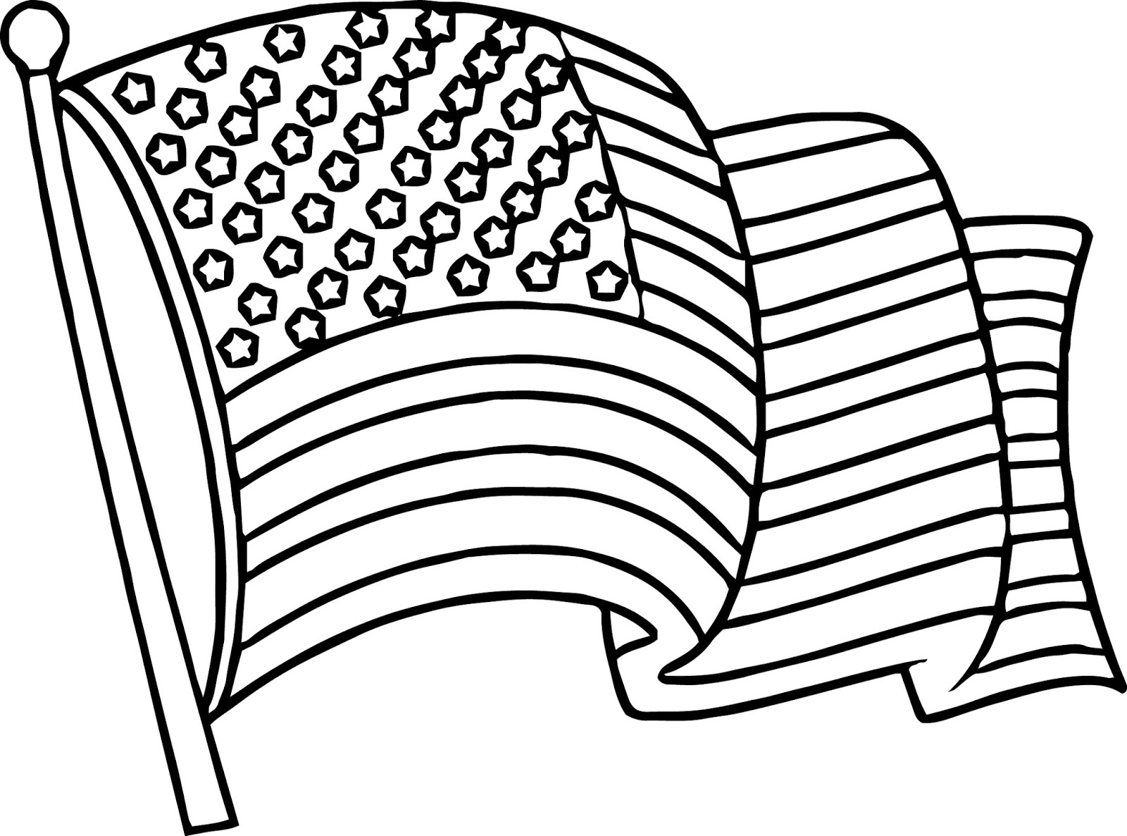 American Flag Wave Coloring Page