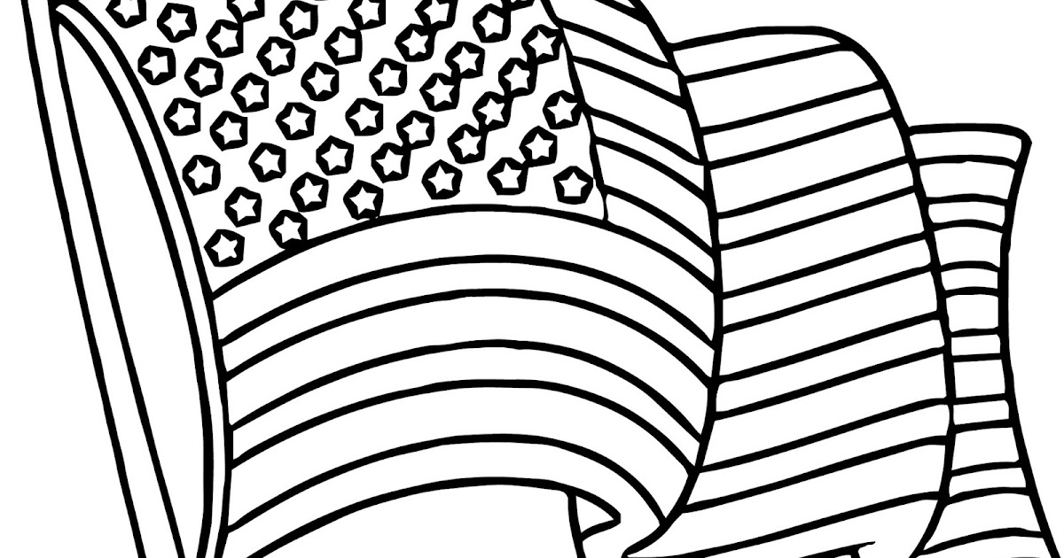 Free Printable American Flag Coloring Pages