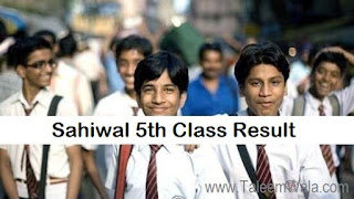 Sahiwal 5th Class Result 2019 PEC Online - Sahiwal Board Results Announced - BISE