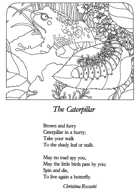 This is a photo of Agile Poetry Coloring Page