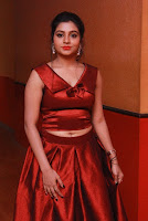 Tamil Actress Anisha Xavier Pos in Red Dress at Pichuva Kaththi Tamil Movie Audio Launch  0008.JPG