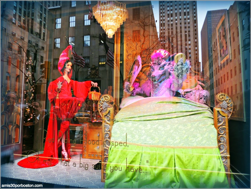 Escaparates Saks Fifth Avenue: Caperucita Roja