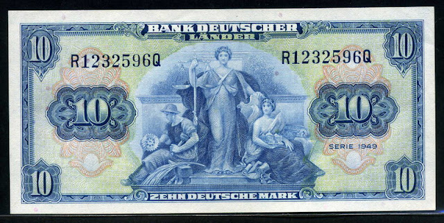 Bank Deutscher Lander 10 Deutsche Mark money currency