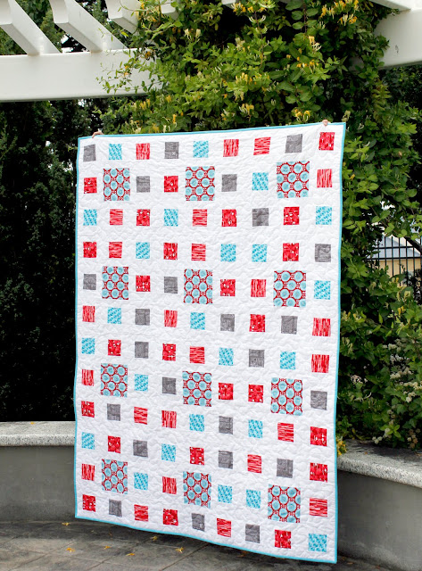 Fractals quilt made using the new Desert Bloom fabrics from Riley Blake.  Blog post has link to the pattern!