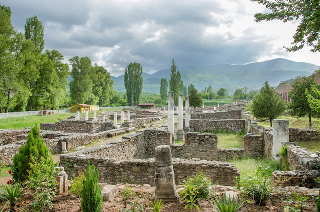 Heraclea Lyncestis - archaeological site near Bitola, Macedonia - portico