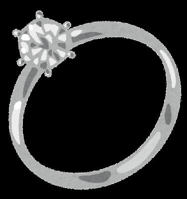 ダイヤモンドリング・結婚指輪のイラスト