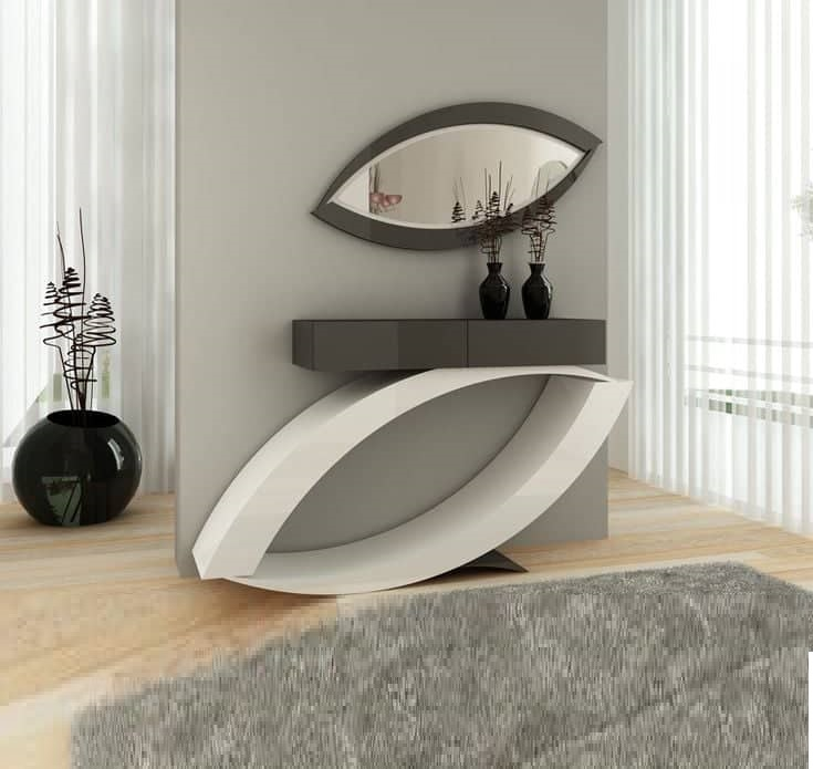 Modern Console Table Mirror Design Ideas 2019