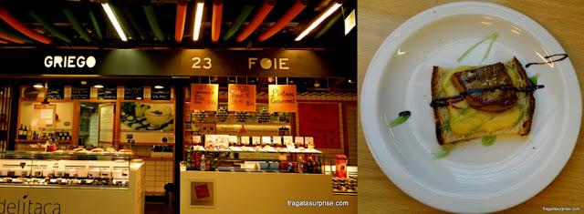 Balcões de tapas e foie gras no Mercado de San Antón - Chueca, Madri