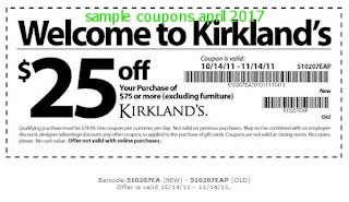 Kirklands coupons april 2017