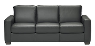 Baers B534 Stationary Leather Sofa