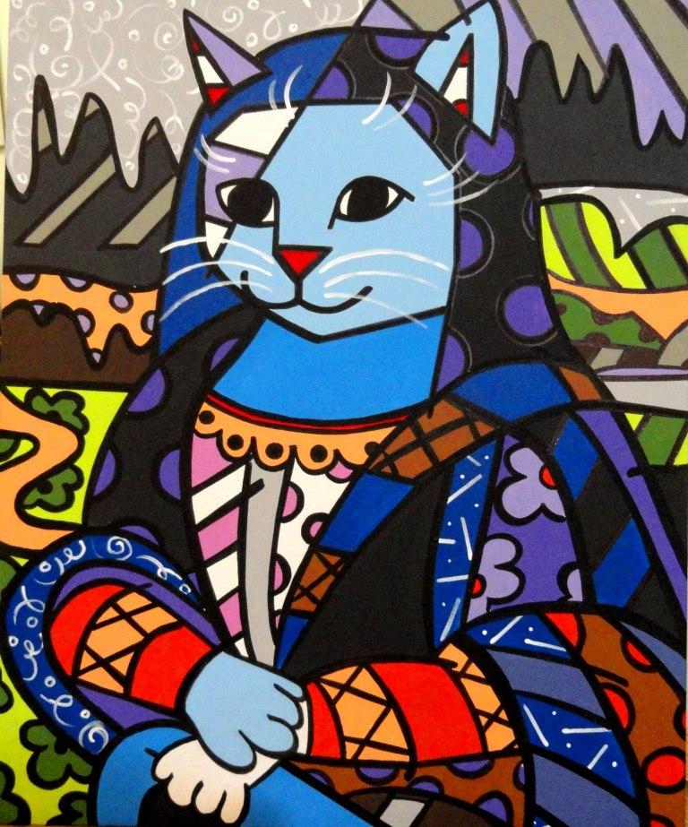 Mona Gato - Pitura de Romero Britto