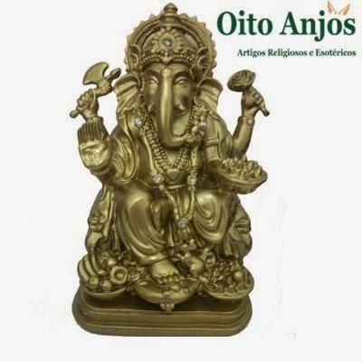 Ganesha Dourada * Oito Anjos Artigos Religiosos e Loja Esotérica