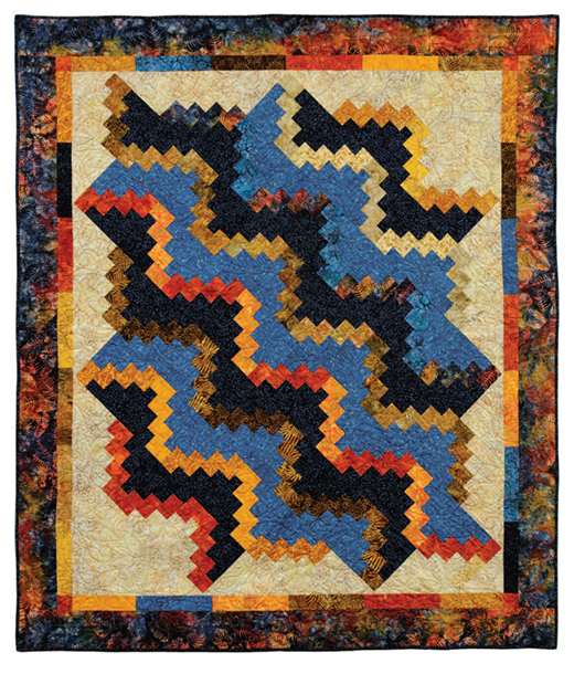 Crooked Waves Quilt Free Pattern designed by Heather Porter of Timeless Treasures