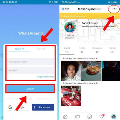 Edit Profil Aplikasi Whatsaround